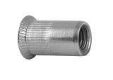 Гайка-заклепка потай рифленая ART 1023 Countersunk serrated nut-rivet stainless steel A2
