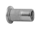 Гайка-заклепка с фланцем рифленая ART 1025 Serrated flanged nut-rivet stainless steel A2