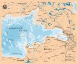 Деревянная рельефная карта Финского залива 60x60 WOODENMAP ART 2130