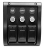 Панель с тремя влагозащищенными выключателями  ART 4052 3 gang waterproof switch panel