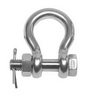 Скоба такелажная кованая OMEGA болт со шплинтом ART 4068 Shackle bow with bolt securing, forged