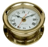 Часы круглые с римскими цифрами полированная латунь ART 4095 Clock, brass polished, lacquered