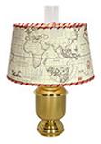 Электролампа RETRO Oval с картой H420/E27 DHR ART 5329 Table lamp