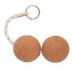 Брелок с двойным поплавком из пробки ART 6706 Key chain- double cork ball
