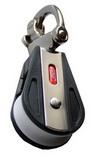 Одношкивный такелажный блок с отцепным карабином PEM ART 7314 Single block with snap shackle