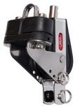 Одношкивный вертлюжный такелажный блок с вилкой, стопором и кипой PEM ART 7316 Single block with becket, cam and eye strap