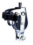 Одношкивный вертлюжный такелажный блок 50мм с вилкой, стопором ВНИЗ и кипой PEM ART 7318 Single block with becket, cam (up) and eye strap