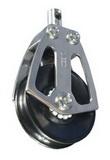 Нержавеющий одношкивный вертлюжный такелажный блок 65-75mm на подшипниках PEM ART 7511 Single steel block with ball bearing shave