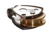 Одношкивный нержавеющий блочок 30мм с латунным шкивом PEM ART 7613 Single steel block with  brass sheave