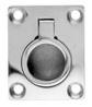 Ручка потайная с кольцом прямоугольная ART 8241 Small flush lifting pull