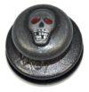 Tenax кнопка с черепом ART 8343 Tenax BLACK SKULL upper part/ top with large, smooth head/ringed head/washer screwed on