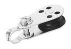Блок такелажный одношкивный с пальцем и мочкой ART 8391 Single block with removable pin and bracket on top - nylon sheave