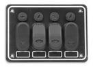 Панель выключателей 4 клавиши 130 95 алюминий ART 8685 4 gang waterproof switch panel