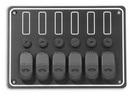 Панель выключателей 6 клавиш 190x135 алюминий ART 8686 6 gang waterproof switch panel