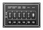Панель выключателей 6 клавиш 165x115 алюминий ART 8689 6 gang switch panel