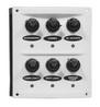 Панель с шестью влагозащищенными выключателями ART 8757 6 gang splashproof switch panel