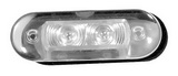 Светодиодный светильник красный/белый пластмасса ART 8760 LED light, waterproof