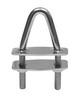 Рым для вантпутенса с наклоном и пластинами ART 8979 U-bolt with two counter plates - angled head